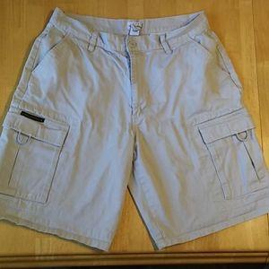 Calvin Klein mens khaki cargo shorts